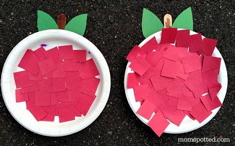 Apple Paper Crafts - a is for apple an apple paper plate preschool craft