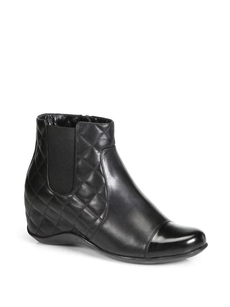 Quilted Wedge Boots by Aquatalia By Marvin K Volts Quilted Leather Wedge Ankle