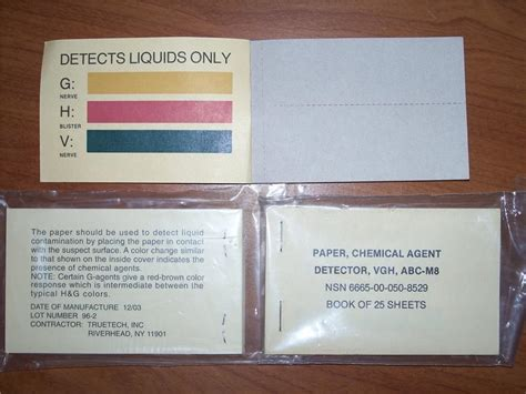 Chemicals Used In Paper - nbc cbrn m8 chemical detector paper