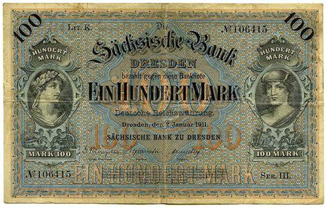 deutsche bank geldautomat dresden einhundert 100 2 januar 1911 s 228 chsische bank zu