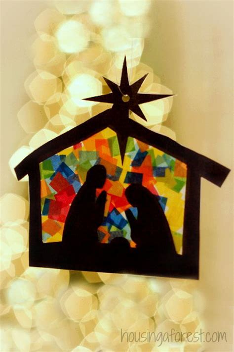 Stained Glass Paper Craft - creative tissue paper crafts for and adults sponge