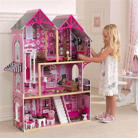 childrens dolls houses uk kidkraft couture wooden kids dollhouse dolls house furniture fits barbie bnib ebay