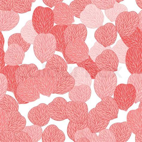 pattern in flower petals seamless pattern of pink flower petals vector illustranion