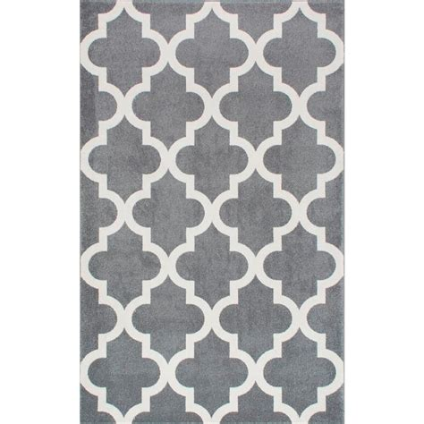 10 X 10 Area Rugs Nuloom Meeker Trellis Grey 7 Ft 10 In X 10 Ft 10 In Area Rug Rzpl02a 71001010 The Home Depot