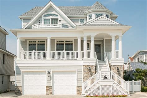 Contemporary Country House Plans by Beach House Exterior Traditional With Shore Flags And