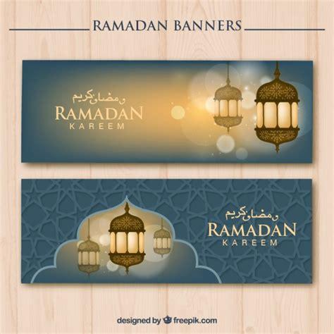 design banner ramadan ramadan banners with cute lanterns vector free download