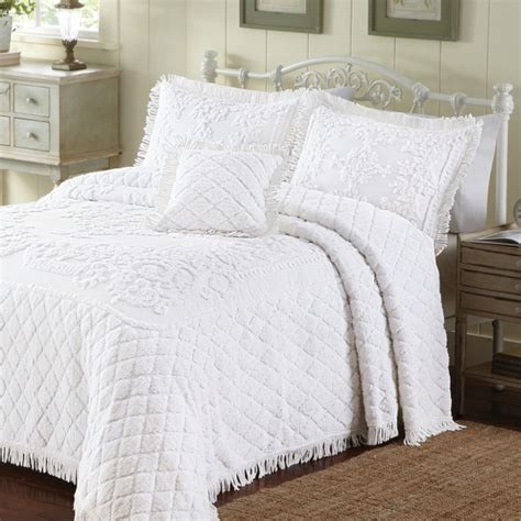 white coverlet king vintage king coverlet on shoppinder
