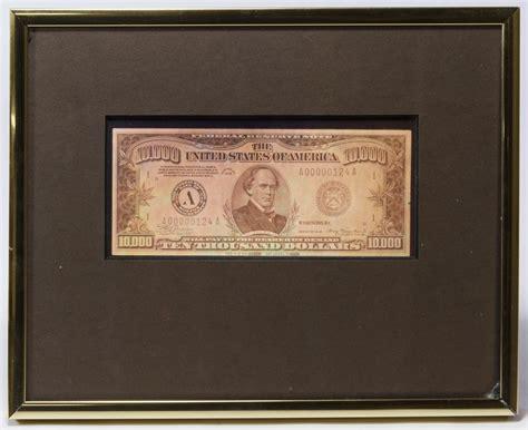 Lot 10: Hologram $10,000 Bill Print | Leonard Auction Sale ... $10000 Bill For Sale