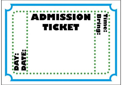 Admission Ticket Invitation Template circus ticket template posts related to carnival