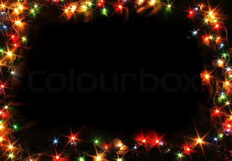 xmas music frame from the color lights stock photo