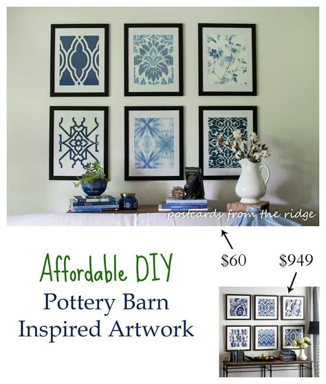 pottery barn inspired affordable diy artwork inspired by pottery barn rock