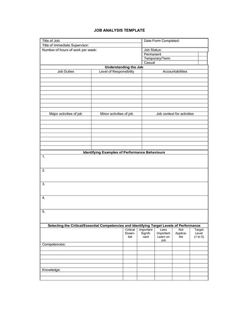 14 best images of job safety analysis template worksheet