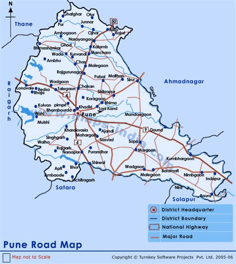 city map of pune pune road map road map pune