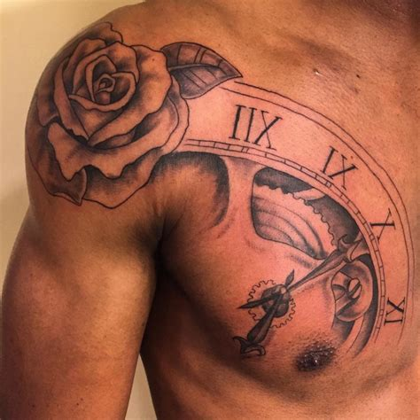 rose tattoos for men on chest for designs ideas and meaning tattoos