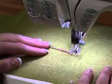 yarn couching foot husqvarna viking 174 yarn couching feet set 360p youtube