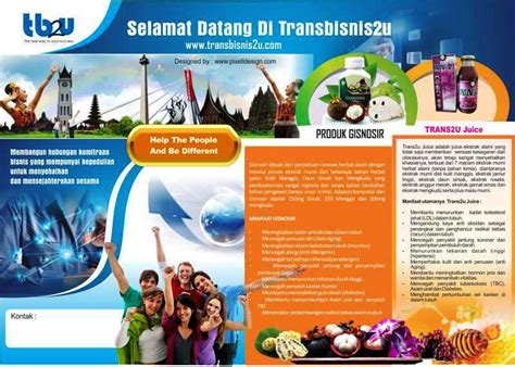 desain brosur bank brosur mlm multi level marketing yang bagus