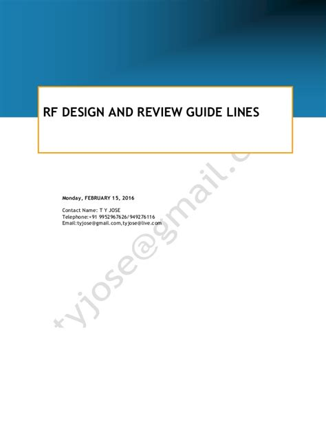 layout review guidelines rf design and review guidelines