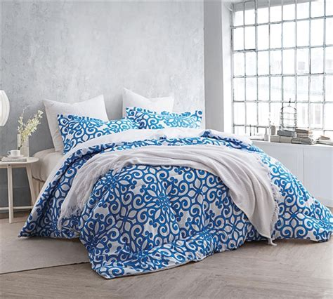 full xl comforter shop crystalline blue comforter sets full xl size