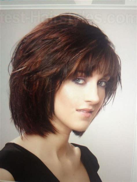 brown layerd bobs 19 fine looking short hairstyles with bangs pictures and