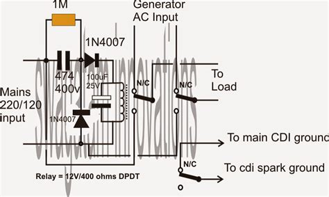 100 wiring diagram for changeover relay mains to
