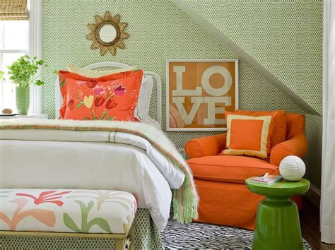 orange and green bedroom 7 beautiful bedroom makeovers by designer katie rosenfeld