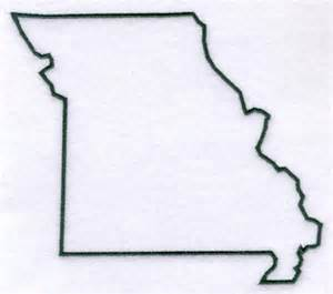 Missouri State Outline by Machine Embroidery Designs At Embroidery Library Embroidery Library