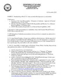 Army Sop Template by Army Social Media Standard Operating Procedure