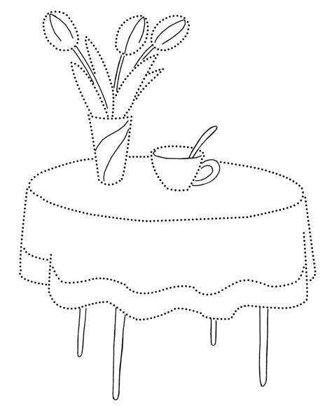 furniture coloring page  kids  print