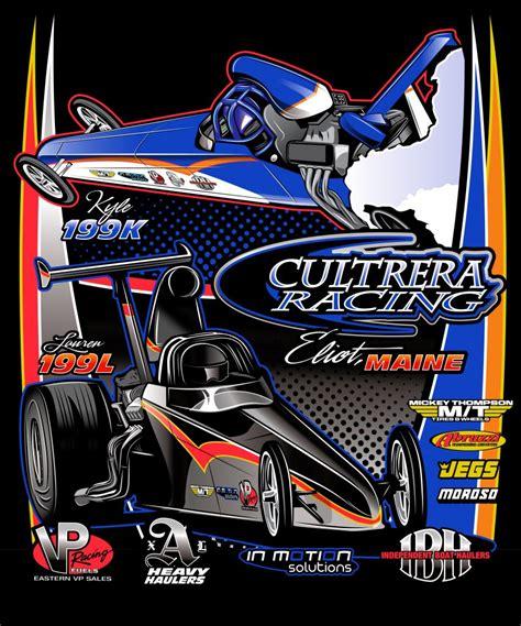 design art racing t shirt design cultrera racing nhra top dragster in