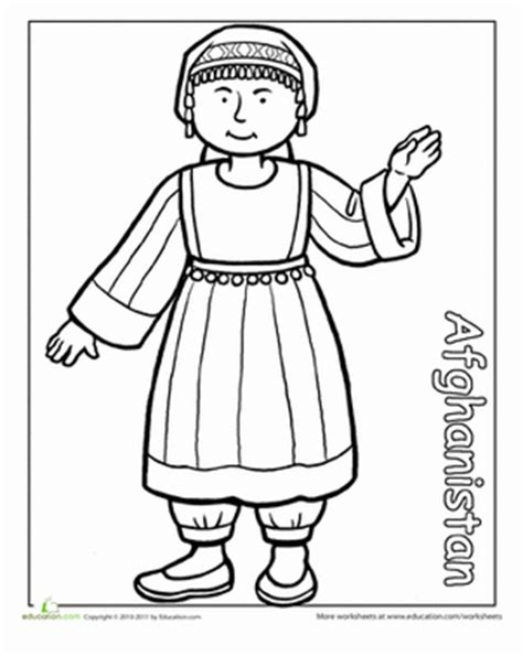 multicultural coloring pages preschool multicultural coloring afghanistan worksheet
