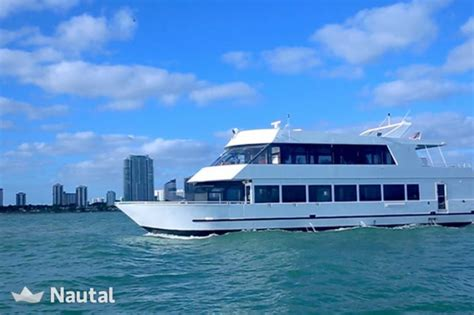 party boat in florida yacht rent custom party boat in downtown miami south