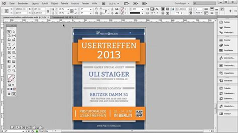 layout indesign erstellen indesign tutorial illustratives plakat erstellen