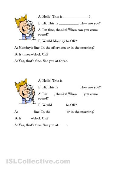 Dialogue Worksheets by 6 Best Images Of Telephone Contact Printable Worksheets