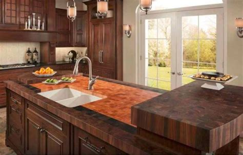 Cost Of Butcher Block Countertop by Top Kitchen Countertop Materials Pros And Cons