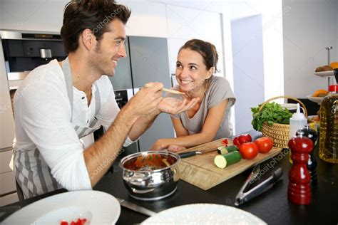 nue dans la cuisine husband and in kitchen stock photo 169 goodluz 36646055