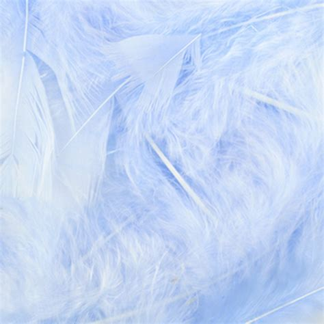 feather boy blue peter light blue natural loose marabou feathers feathers