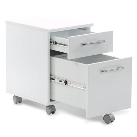 purcell modern white mobile file cabinet eurway modern