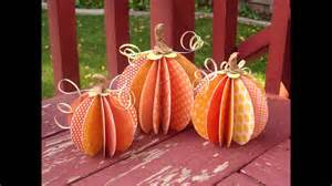 Paper Pumpkin Crafts - easy diy paper pumpkin crafts project ideas