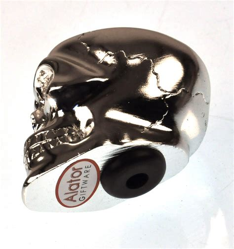 Skull Gear Knob by Chrome Skull Gear Knob Pink Cat Shop
