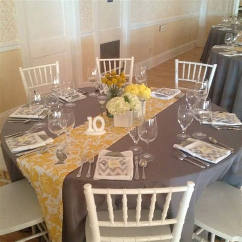 Yellow And Grey Table L 17 Best Images About Weddings At The Nonantum