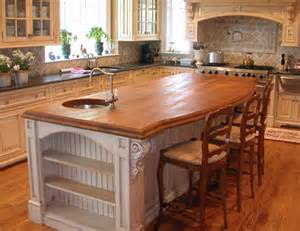 Wood Tops For Kitchen Islands Solid Wood Countertops Wood Versus Granite Counter Top
