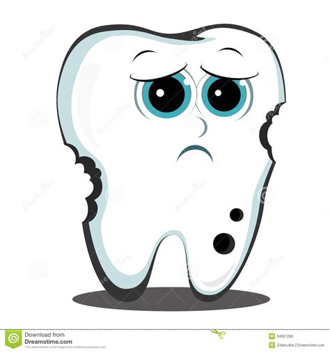 tooth clipart sad tooth clipart