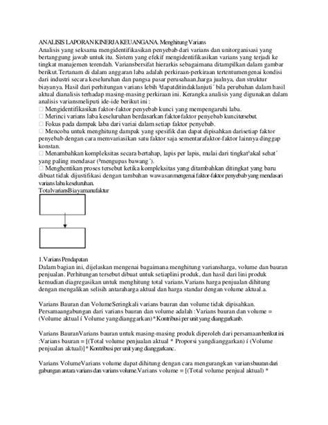 Analisis Kinerja analisis laporan kinerja keuangana