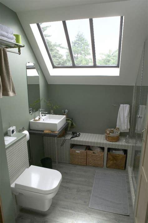 Délicieux Amenager Une Petite Salle De Bain En Longueur #2: petite-salle-de-bain-grise.jpg
