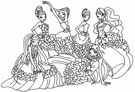 Winx Club Bloom Coloring Pages   Coloring Home
