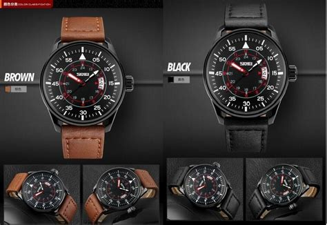 Skmei 9113 Original Water Resistant 50m Black Brown skmei jam tangan analog pria 9113cl black brown jakartanotebook