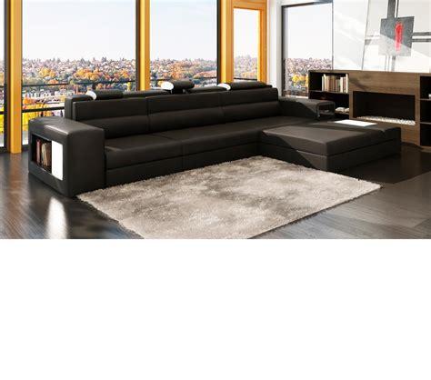 mini leather sectional sofa dreamfurniture divani casa polaris mini
