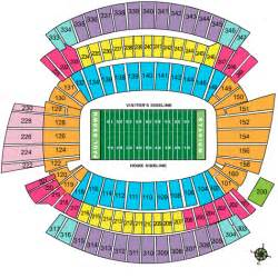 stadium seat map bengals seating chart paul brown stadium cincinnati