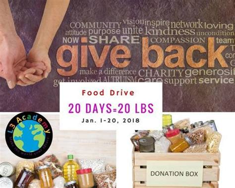 Montclair Food Pantry by L3 Academy Collecting Donations For Human Needs Food