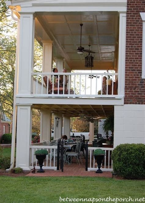 double porch house plans two story porches build a porch way up high